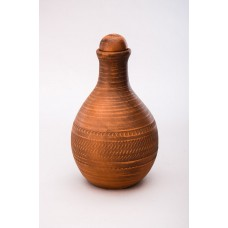 бутылка гончарная красная глина (И)