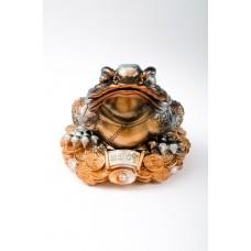 коп. жаба на монете большая гипс (А)