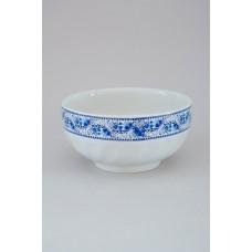 Салатник 1,1л белый с деколью, гжель (АВ)