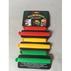 Скрепки для пакетов пластик