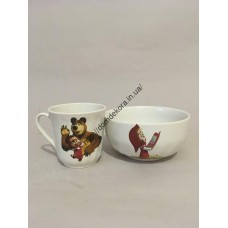 Набор детский(чашка Волна и салатник 0,5)(АВ)