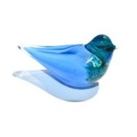 Голубая птица удачи стеклянная